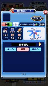 木根竜太郎の投手能力